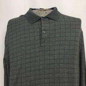 Brooks Brothers Long Sleeve Polo, size large.